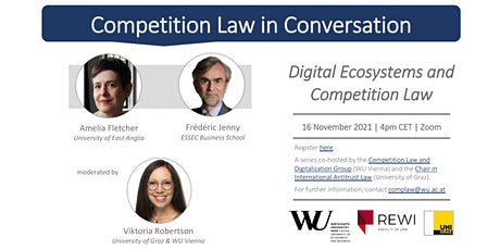 Competition Law in Conversation: Digital Ecosystems and Competition Law tickets