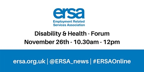 Disability, Health and Employment Forum tickets
