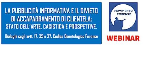 PUBBLICITA' INFORMATIVA E DIVIETO DI ACCAPARRAMENTO DI CLIENTELA. entradas