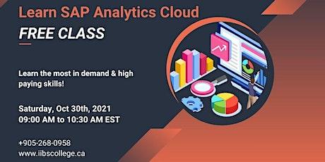 Learn SAP Analytics Cloud - FREE Class biglietti