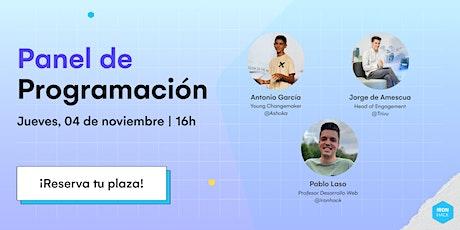 Panel de Programación con Antonio García Vicente entradas