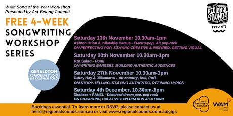 Free Songwriting Workshop Series tickets