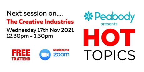 Peabody's Hot Topics - The Creative Industries tickets