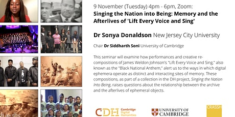 Singing the Nation: memory and the afterlives of Lift Every Voice and Sing tickets