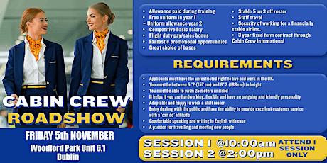 Ryanair Cabin Crew Recruitment Roadshow - Dublin tickets