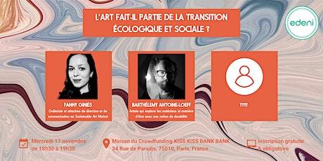 [Conférence] L'art fait-il partie de la transition écologique et sociale ? billets
