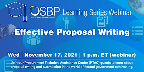 OSBP Learning Series: Effective Proposal Writing tickets