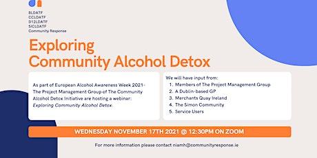 Exploring Community Alcohol Detox tickets