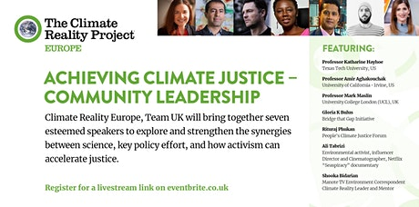 COP26 FORUM:  Achieving Climate Justice — Community Leadership tickets
