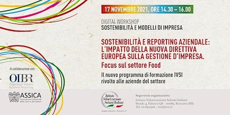Digital Workshop: SOSTENIBILITÀ E REPORTING AZIENDALE biglietti