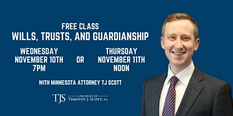 Free Class: Wills, Trusts, and Guardianship tickets