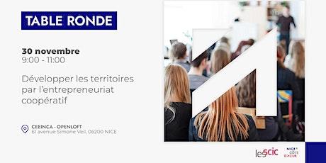 Table ronde : développer les territoires par l'entrepreneuriat coopératif billets
