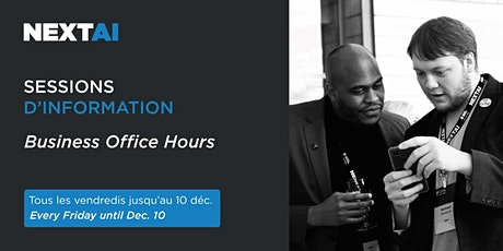 Sessions d'information   Business Office Hours tickets