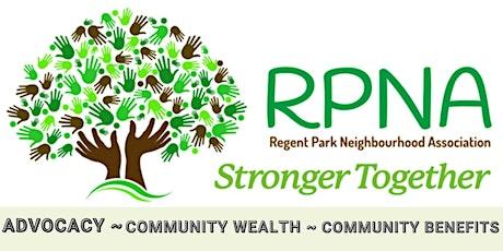 Regent Park Community Meeting - November 18th - Community Benefits - RPNA tickets