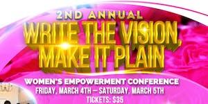 2nd Annual Write the Vision, Make it Plain Women's...