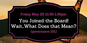 You Joined the Board! Wait...What Does that Mean?...