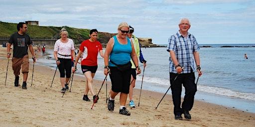 Nordic Walking at Tynemouth Beach