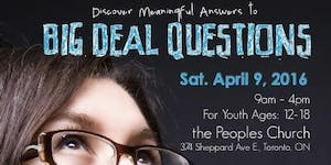 Big Deal Questions 2016 - SOLD OUT