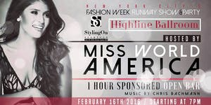 NYFW 2016 Fashion for Charity Hosted by Miss World...