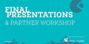 Design Thinking Final Presentations & Partner Workshop...