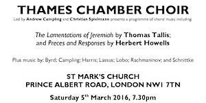 Thames Chamber Choir concert