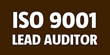 ISO 9001 Lead Auditor bilhetes