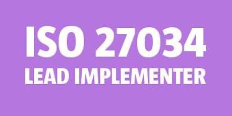 ISO 27034 Lead Implementer bilhetes