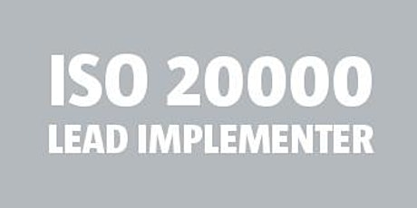ISO 20000 Lead Implementer bilhetes