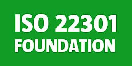 ISO 22301 Foundation bilhetes