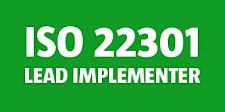 ISO 22301 Lead Implementer bilhetes