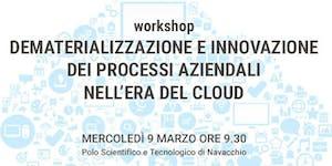 Dematerializzazione e innovazione dei processi...