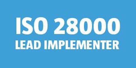 ISO 28000 Lead Implementer bilhetes