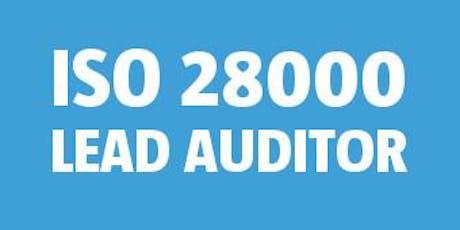 ISO 28000 Lead Auditor bilhetes