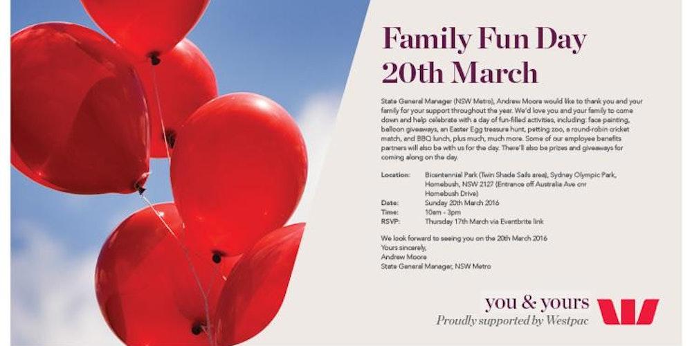 Westpac Employee Family NSW Metro Fun Day