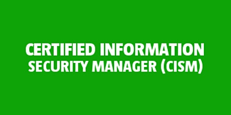 Certified Information Security Manager (CISM) bilhetes