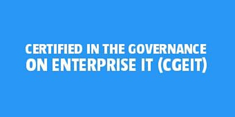 Certified in the Governance of Enterprise IT (CGEIT) bilhetes