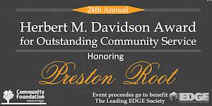 Herbert M. Davidson Award Honoring Preston Root
