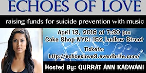 Echoes of Love: raising funds for suicide prevention...