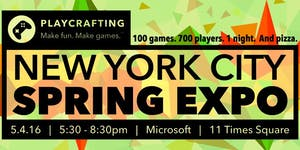 Playcrafting NYC Spring Expo!