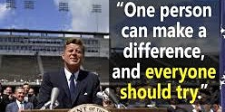 """""""ONE PERSON CAN MAKE A DIFFERENCE AND EVERY PERSON SHOULD TRY"""""""