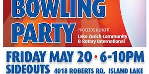 Lake Zurich Rotary Annual Bowling Party