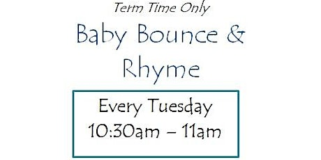 Quedgeley Library - Baby Bounce & Rhyme tickets