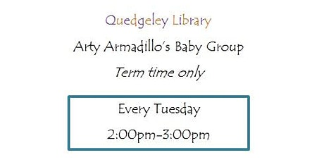 Quedgeley Library - Arty Armadillos tickets