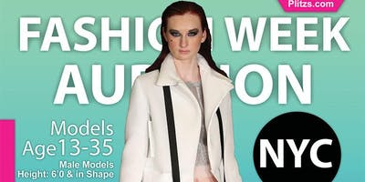 FEMALE 5 FEET 9 AND UP FOR FASHION WEEK IN NY OPEN MODEL CASTING CALL AUDITION