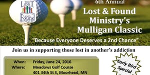 6th Annual Lost and Found Ministry Mulligan Classic...