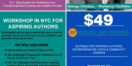PUBLISH AND PROSPER - Publishing Private Coaching tickets