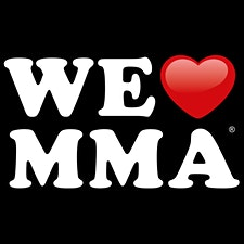 We love MMA  logo