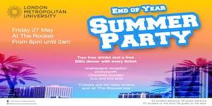 London Metropolitan University End of Year Summer...