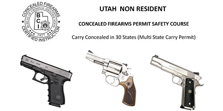 Utah Non Resident Handgun Permit Safety Course (NY & OTHER STATES RESIDENTS) tickets