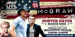 'Celebrate America' 4th of July Beach Concert...